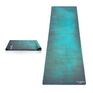Коврик для йоги YogaDesignLab Travel Mat Aegean Green (каучук, микрофибра) 1 мм