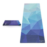 Коврик для йоги YogaDesignLab Travel Mat Geo Blue (каучук, микрофибра) 1 мм
