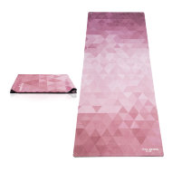 Коврик для йоги YogaDesignLab Travel Mat Tribeca Ruby (каучук, микрофибра) 1 мм