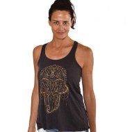 Майка Hamsa Elephant Gold Dark Grey, Funky Yoga