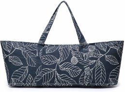Сумка для коврика Elenture Large Yoga Navy Blue Leaves